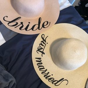 Bride floppy beach hats